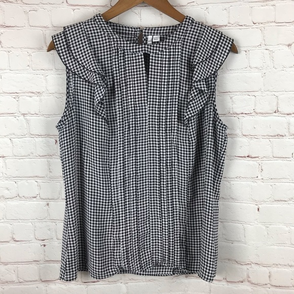 Elle Gingham Sleeveless Blouse
